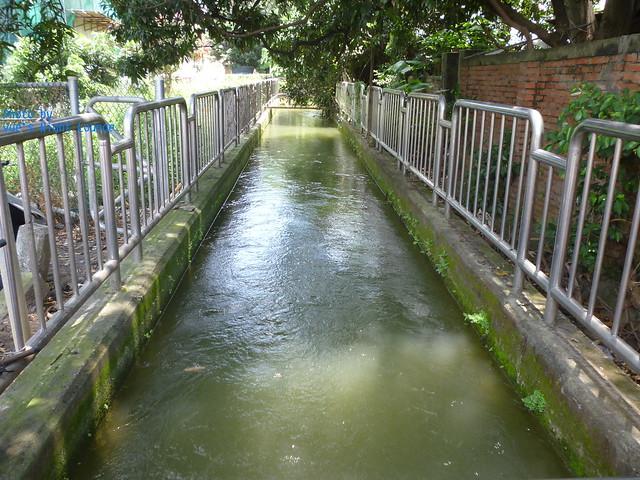1入口旁水流