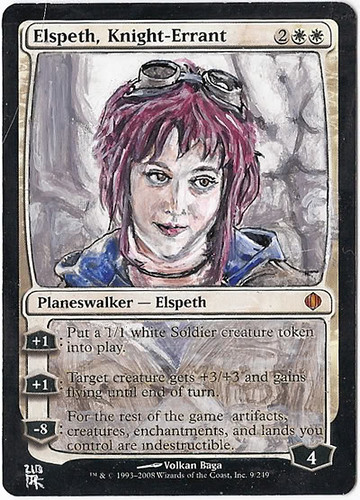 Elspeth Magic the Gathering MTG Card Art MTG Altered Art