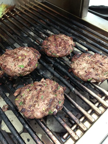 Adding avocado, black beans, and cilantro to beef burgers amps up the flavor and good nutrition