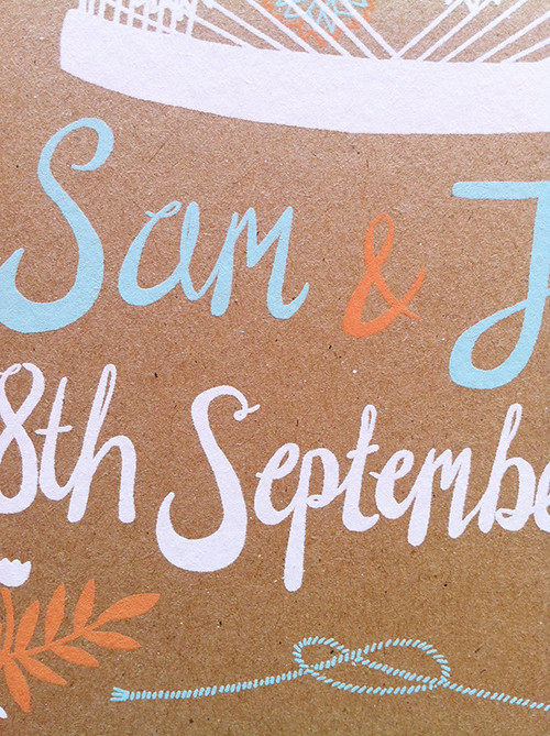 Sam and Jon Invitation Close Up