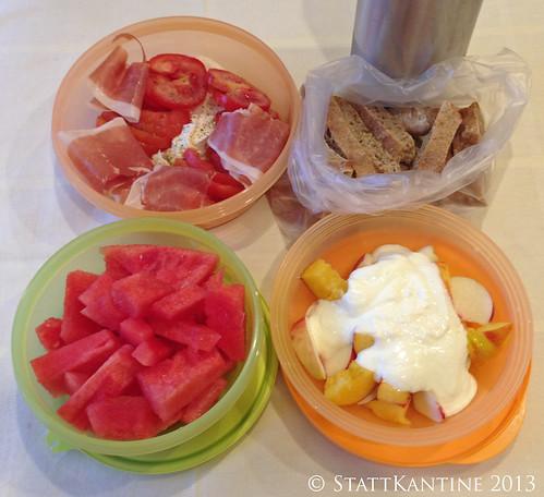 Stattkantine 31. Juli 2013 - Tomate-Mozzarella-Parma, Vinschgerl, Wassermelone