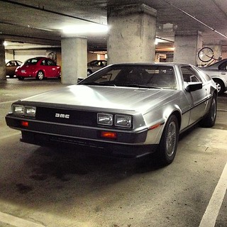 #Delorean spotting. I can't find the flux capacitor or the bio fusion generator. Must not come standard.