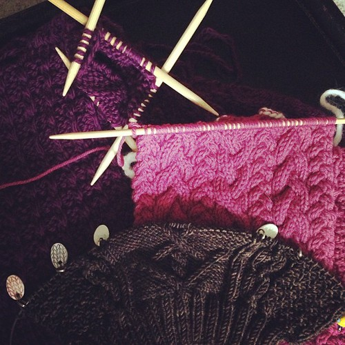 Incomplete #fmsphotoaday I have so many incomplete knitting projects on my needles.