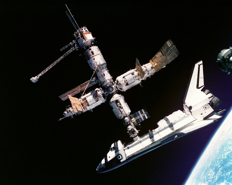 Atlantis Docked to Mir