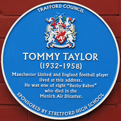 Photo of Tommy Taylor blue plaque