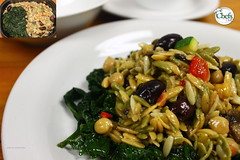 Italian Orzo with Olives & Lemon Zest over Bra…