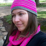 crochet beginner hat and scarf set