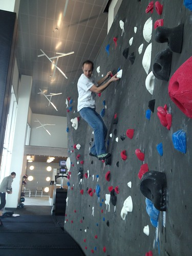 Rock Climbing in the Adobe Lehi office 1/3