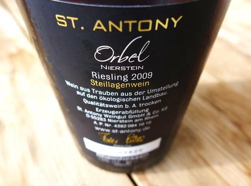 Orbel 2009 Weingut St. Antony