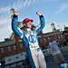 Simon Pagenaud celebrates his victory on pit lane