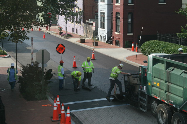 DDOT Applies a Slurry Seal