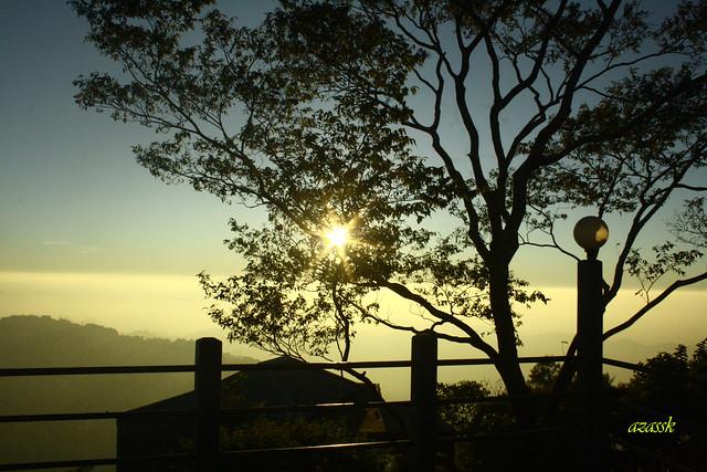 On the moment of sunset, Mizoram