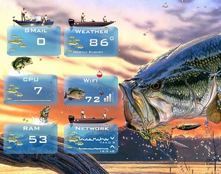 Outdoor Living Fishing for Rainmeter