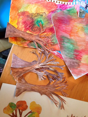 Collage trees in progress