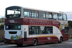 This bus was new to Lothian Buses as 739 in 2005. Seen here at Balerno terminus.  740 seen here at Balerno terminus on a sunny evening after completing a journey fron Wallyford/Tranent/Whitecraig...