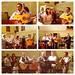 Cantando durante la celebración de misa