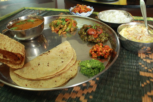 Gujarati Meal with traditional recipes