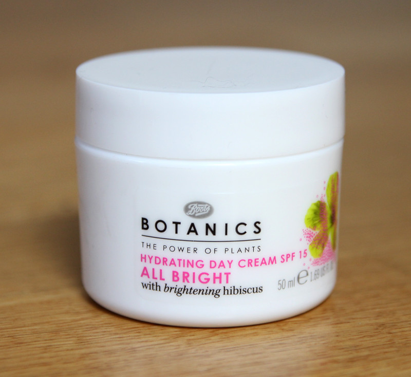 Boots botanics all bright hydrating day cream spf 15