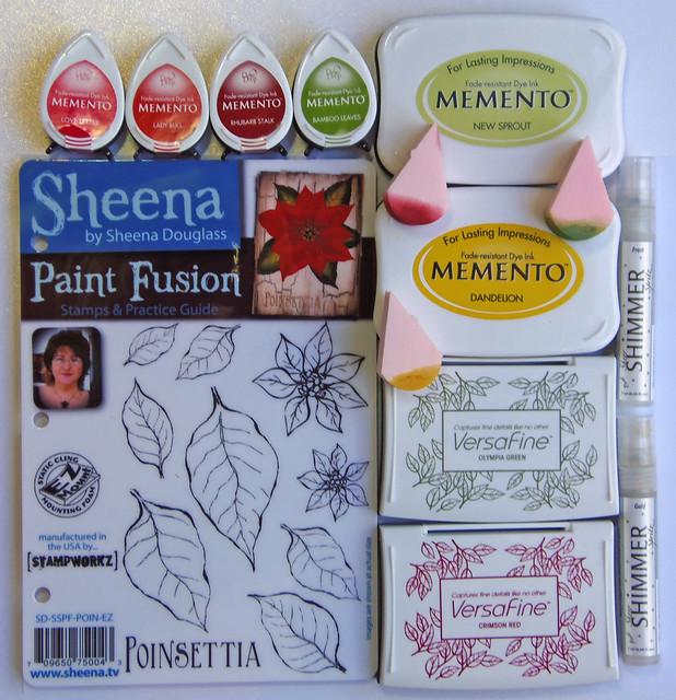 Sponged Poinsettia - supplies