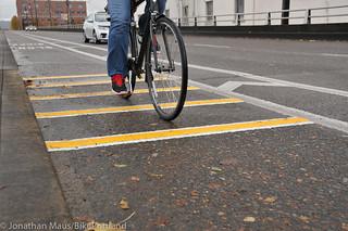 New rumble strips Hawthorne Bridge-11