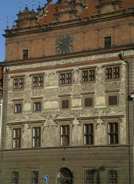 Etched Building Plzen Czech