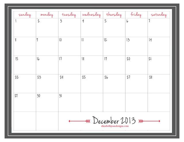 December 2013 Printables 3