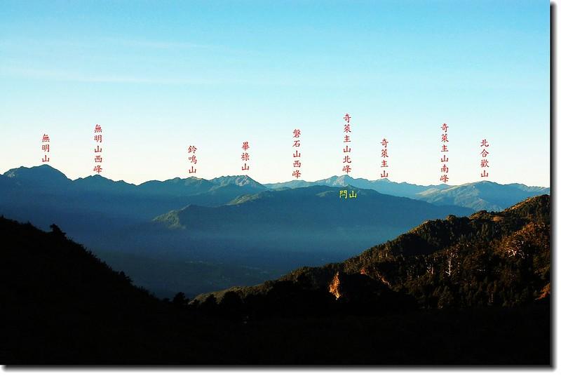 奇萊、北二段群峰(From新達山屋東南眺) 1