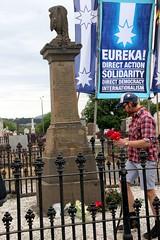 Laying Flowers on the Eureka Diggers memorial | Eureka Day 2013 in Ballarat IMG_6502