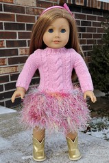 "American Girl ""Soft-as-Snow"" Inspired Sweater Dress"
