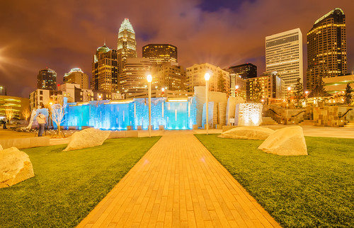 charlotte city skyline by DigiDreamGrafix.com