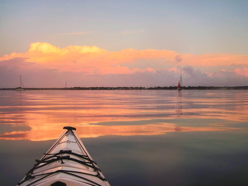 sunset red color clouds sailboat kayak floridakeys keylargo 2014 1514 frommykayak flbay