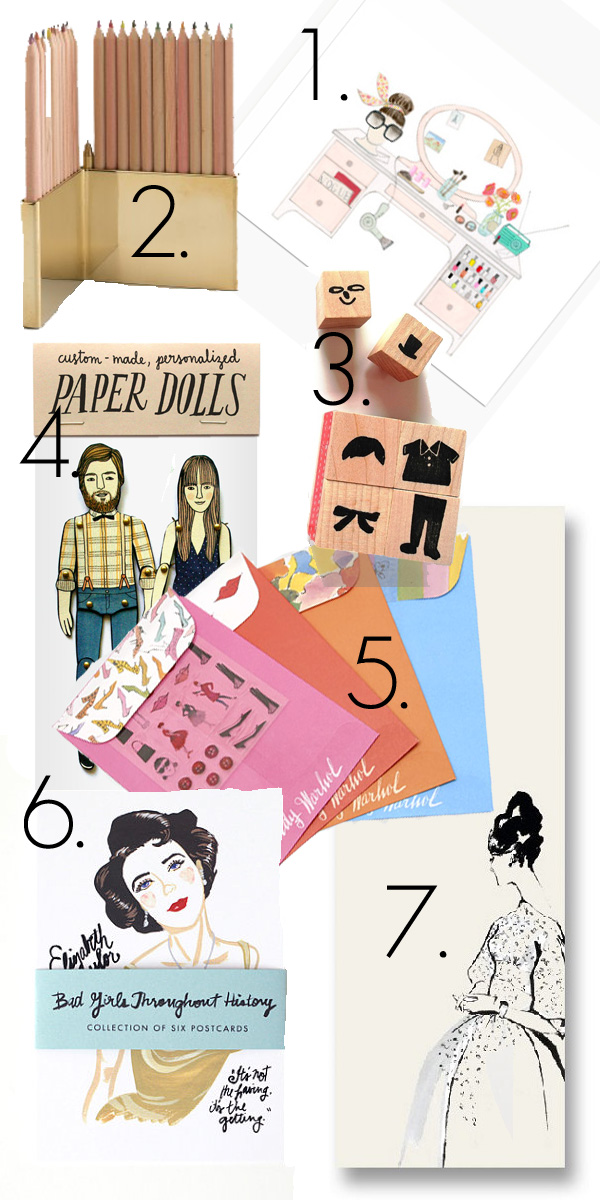 Fashion , stationary, wishlist, Never Fully Dressed, Withoutastyle, pencil holder, cards, Andy Warhol ,Stationary. MoMA, paper dolls, stamps, postcards, notebook, bad girls through history cards.