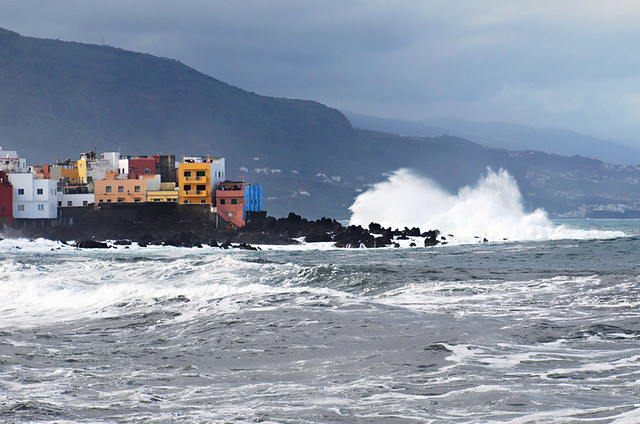 Choppy seas at Punta Brava, Tenerife