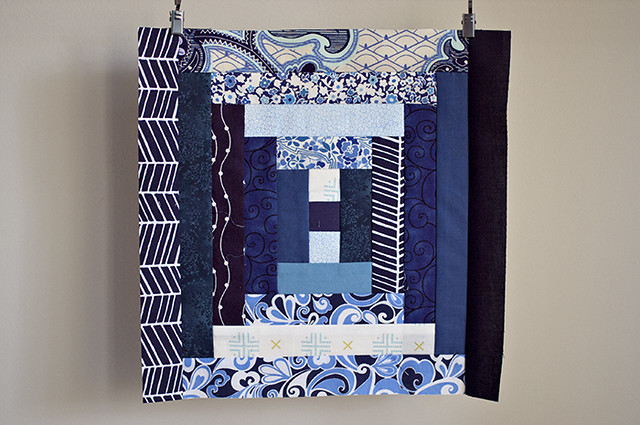 Paper Pieced Log Cabin Block