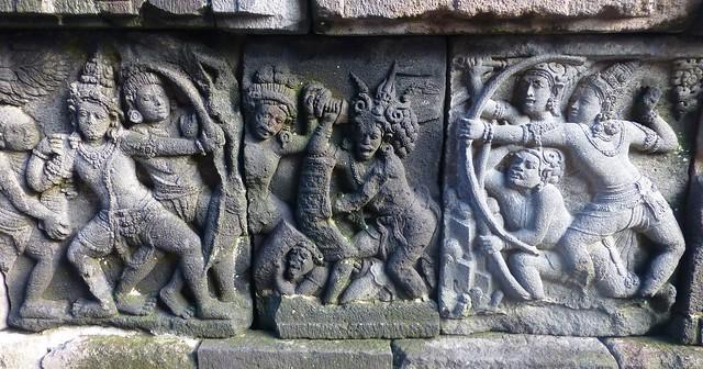 Los templos de Prambanan. Indonesia. Java Central.