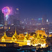 Wat Phra Kaew and Firework by SinghaphanAllB
