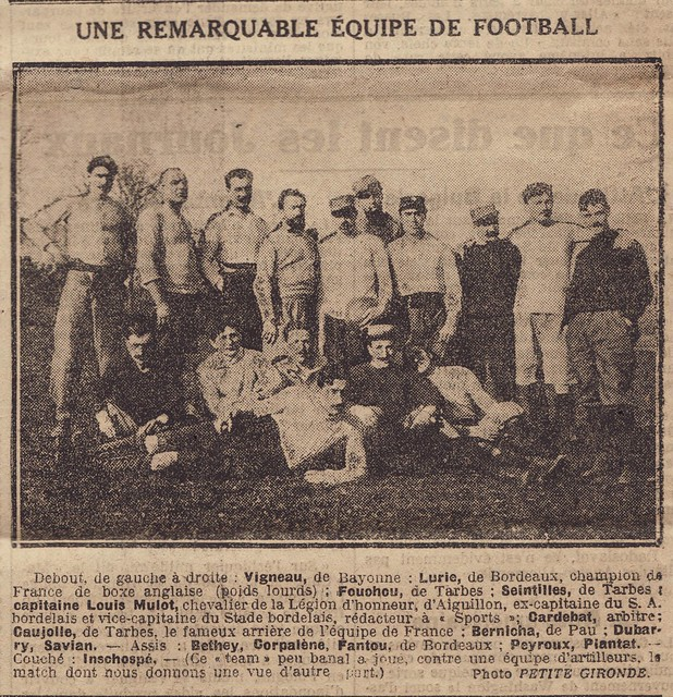 "Rugby during ww1 - 1915 ""Une Remarquable Equipe de Football"""
