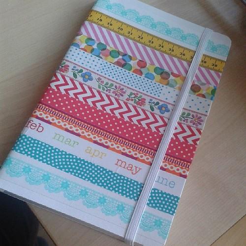 Notizbuch + washitape =tagebuch für ein 10jähriges Mädchen #trostpaket