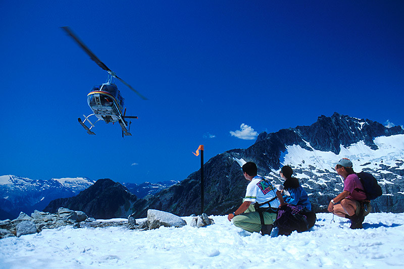 Heli-Hiking; Outdoor Recreation in British Columbia, Canada