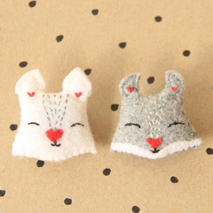 sew squirrel pins felt diy