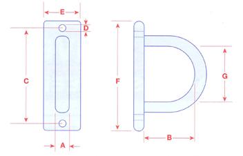 40105 Stainless Steel Pad Eye Plate