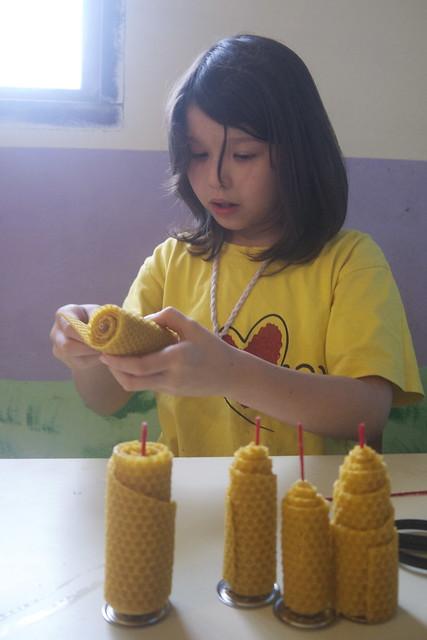 蜂蠟蠟燭 (巢礎片、蜂蠟片)