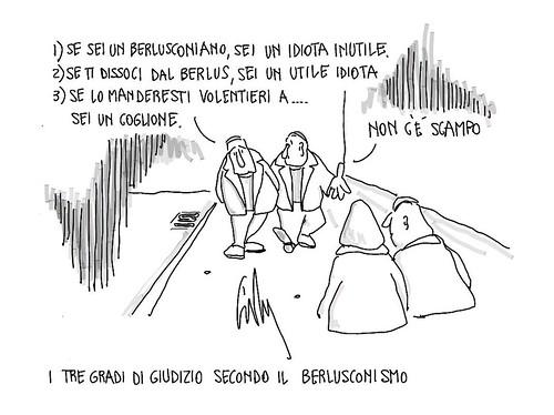 I 3 gradi di giudizio secondo il berlusconismo. by Livio Bonino
