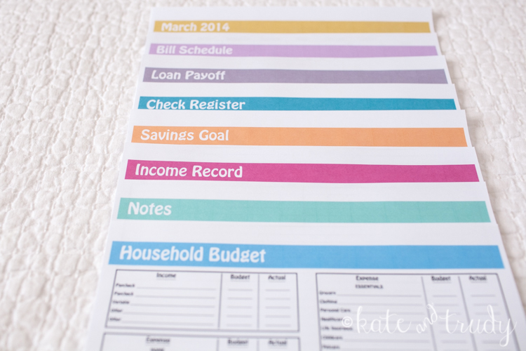 Household Finance Series - Part One | www.kateandtrudy.com