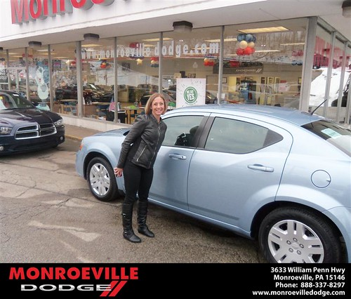 Happy Anniversary to Sarah Marie Campbell on your 2013 #Dodge #Avenger from James Platt  and everyone at Monroeville Dodge! #Anniversary by Monroeville Dodge