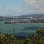 Blick nach Auckland, Neuseeland