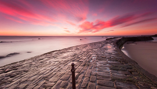 longexposure seascape sunrise canon pier north smooth east silky cullercoats canon550d