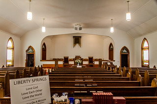 Liberty Springs Presbyterian Church Interior