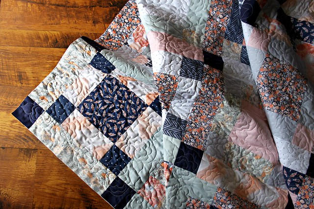 Another pretty quilt back from Sew shabby Quilting!