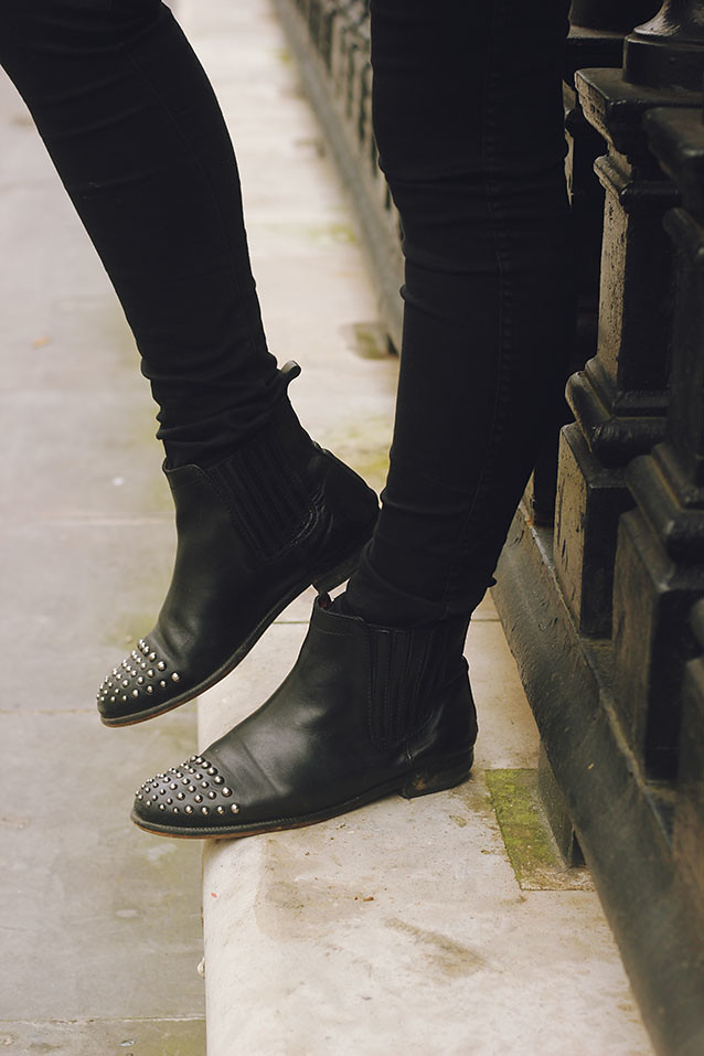 Studded Topshop Chelsea Boots